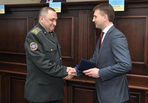 Председатель Днепропетровского областного совета Глеб Пригунов наградил лучших работников СБУ
