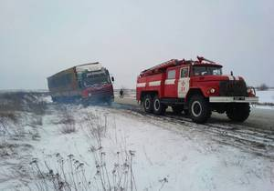 В Днепропетровской области спасатели преодолевают вызовы зимы