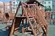 В Днепре построили детский городок из дерева