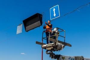 На Центральном мосту в Днепре устанавливают реверсивные светофоры