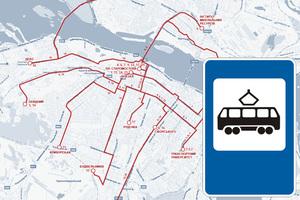 19 апреля с 22:00 трамваи № 5 и 1 будут двигаться по измененному маршруту