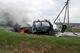 На Днепропетровщине горел ВАЗ, взорвался газовый баллон: водитель обгорел, пытаясь спасти машину