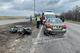 Возле Днепра столкнулись ЗАЗ и мотоцикл Kawasaki, есть пострадавший