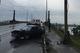 В Днепре на Амурском мосту Nissan Sunny на полном ходу врезался в столб