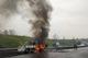 На Криворізькій трасі згоріла вантажівка