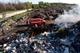 В Павлоградском районе более 2-х дней тушили пожар на территории полигона бытовых отходов