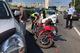 В Днепре на набережной возле Шара столкнулись Hyundai и мотоцикл: пробка тянется на километры