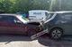 В Днепре на улице Калиновой Lada протаранила электромобиль