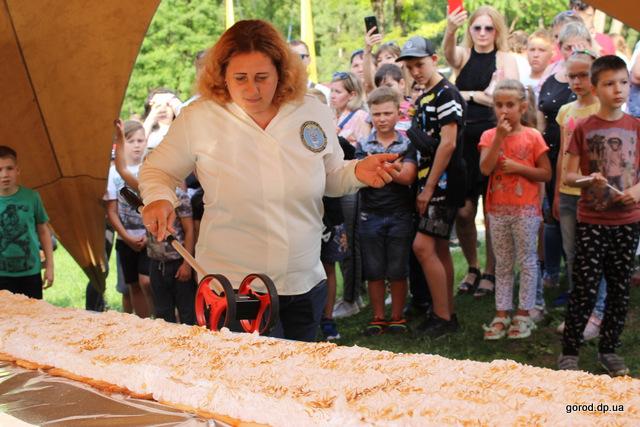 Новый днепровский рекорд – самый длинный торт из мороженого