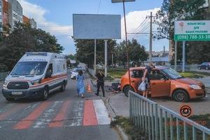 В Днепре на Рабочей столкнулись Skoda и Yamaha: мотоциклист погиб, пострадали женщина и ребенок
