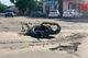 В Обуховке появился «памятник» разбитым дорогам