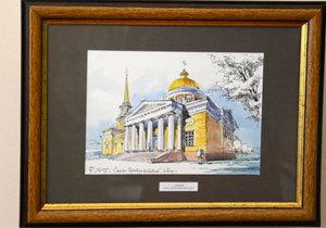 У будинку-музеї Д.І. Яворницького відкрилась виставка акварельних робіт архітектора та художника Олега Гаврилова