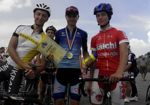 Команда Днепропетровской области стала первой на всеукраинских соревнованиях по велоспорту среди юниоров