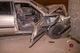 В Днепре на Донецком шоссе Mazda въехала в стелу автозаправки: пострадали двое человек