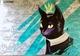 В Днепре появился мурал с черным котом