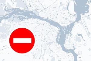 Перекрытие движения и изменения в работе транспорта в Днепре 24 августа