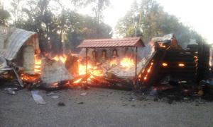 В Кривом Роге дотла сгорела церковь