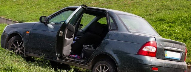 ДТП на Запорожском шоссе: автомобиль вылетел в кювет