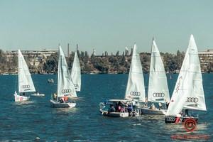 Рассекая ветер: в Днепре второй день соревнуются яхтсмены на фестивале Profi Trophy 2020