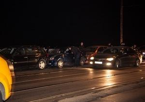 На Амурском мосту произошла авария с участием 5 машин