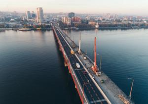 Как продвигается ремонт Центрального моста в Днепре