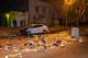 В Днепре Kia снес контейнеры с мусором и перевернулся