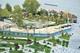 На Набережной Днепра создают еще один красивый сквер