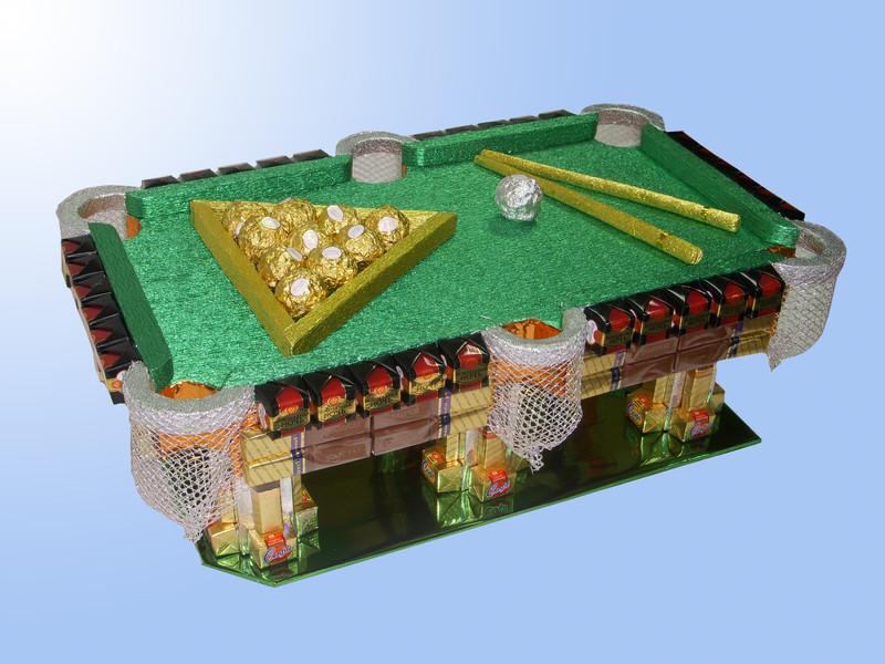 Бильярдный стол своими руками из конфет
