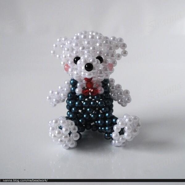 Медвежонок из бисера мастер класс с пошаговым