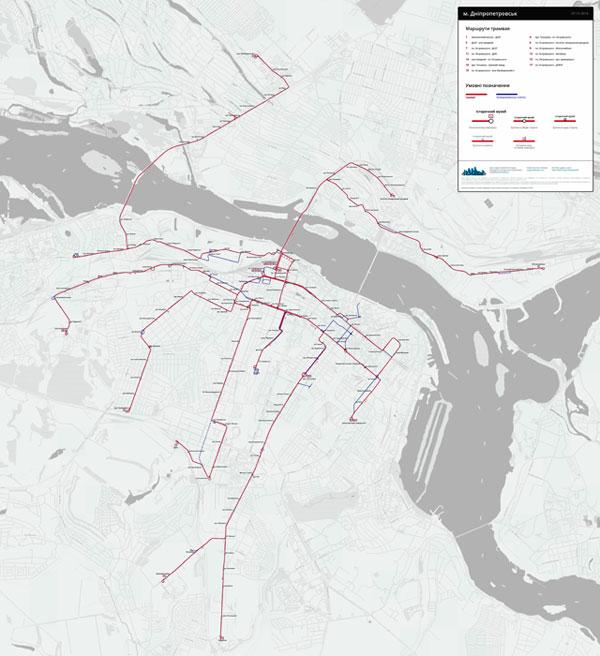 История трамвайных линий Екатеринослава - Днепропетровска - Днепра
